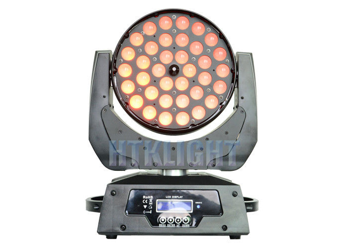 36*10W RGBW 4 In 1 LED Wash Moving Head Zoom Light With Electronic Focusing
