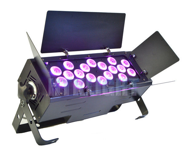 Chauvet Ez Wash Hex Pack LED Theatre Spotlights 18 X 15W RGBWA 5 In1 Color Mixing