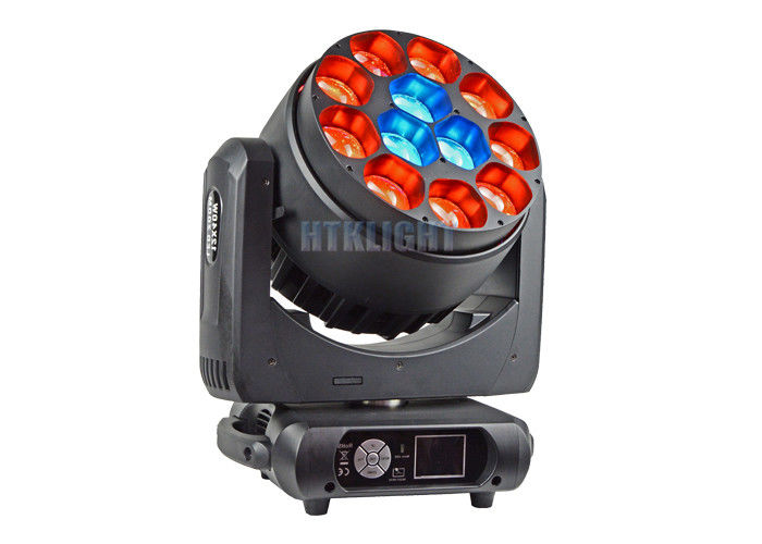 Black Aluminum Housing Stage Effect Light / Moving Head LED Zoom
